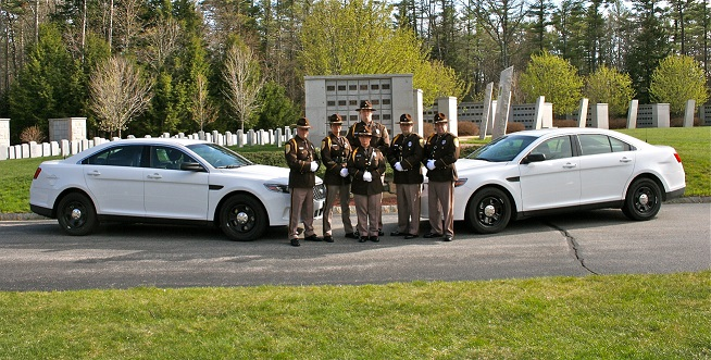 honor guard with cruisers